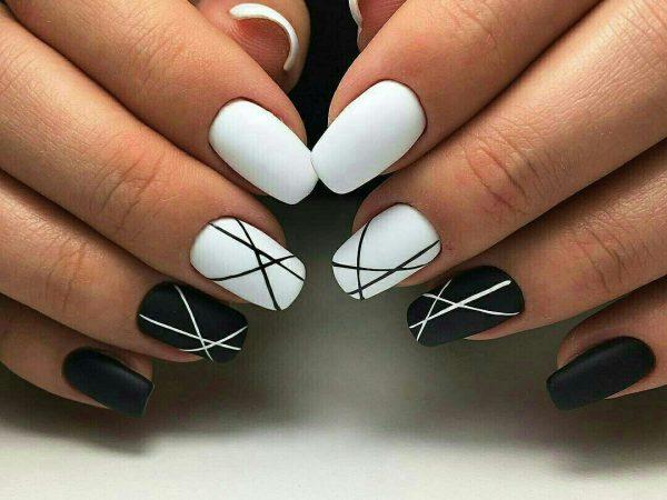 abstrakciya-600x450 Самый красивый дизайн ногтей: 100 ЛУЧШИХ идей и трендов на фото